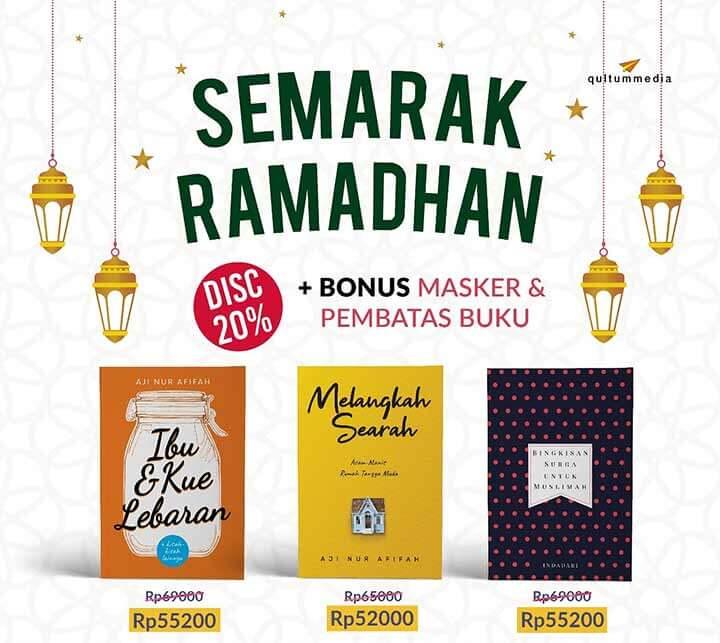 semarak ramadhan bonus masker pembatas buku